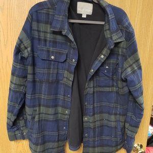 Blue / Green Plaid Fleece Lined Flannel jacket